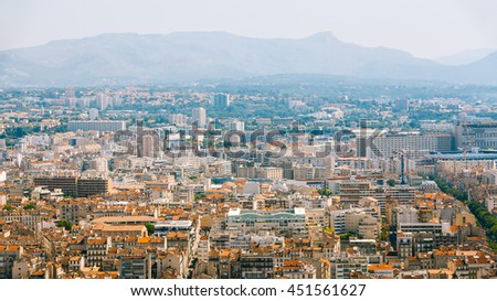Cityscape of Marseille, France. Urban background.