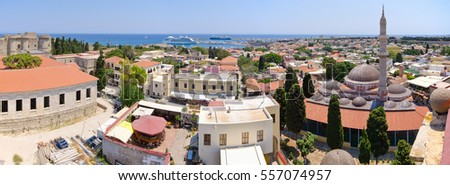 Cityscape of Rhodes town - greece