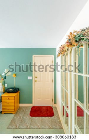 Stairwell fire escape modern building stock photo for Classic american house interior