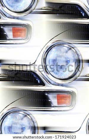 classic car detail abstract