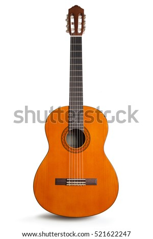 Classic guitar isolated on white