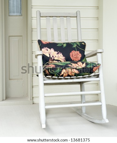 Old fashioned rocking chair Stock Photos, Illustrations, and Vector ...