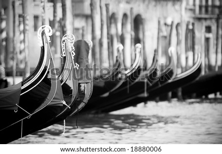 Classical Venice black and white photo