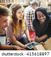 Classmate Classroom Sharing International Friend Concept - stock photo
