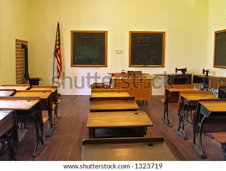Interior School House 1800s Old Town Stock Photo 7506706 Shutterstock