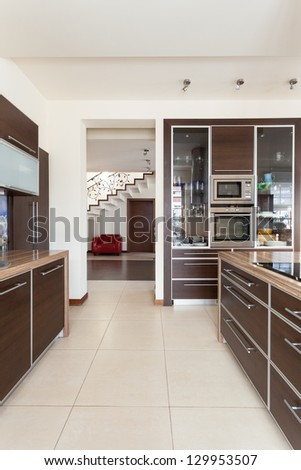Classy house - view from a contemporary kitchen