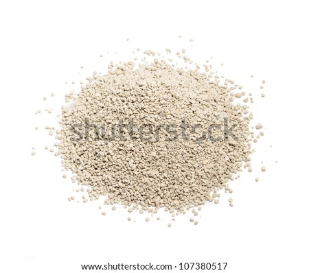 Clay Cat Litter Isolated on White Background