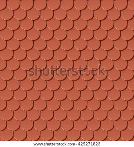 Roof Tiling Seamless Texture Raster Version Stock