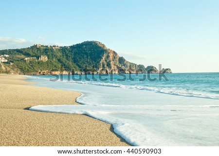Cleopatra Beach (Kleopatra Beach) in Alanya, Turkey