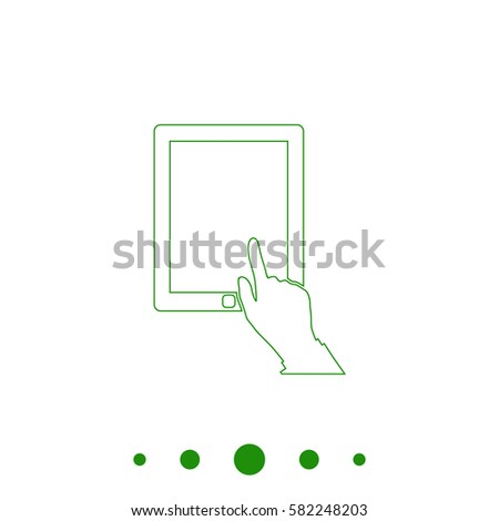 hand pushing on electric button switchvector stock vector 367772786 shutterstock. Black Bedroom Furniture Sets. Home Design Ideas