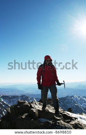 Climber on the peak