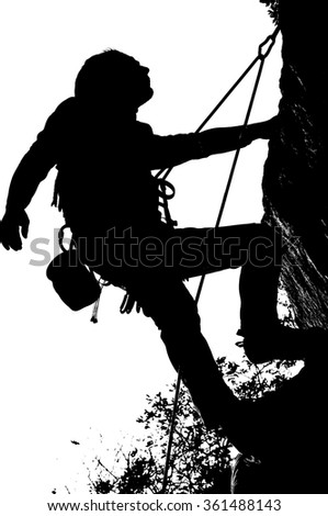 Climbers in black withe
