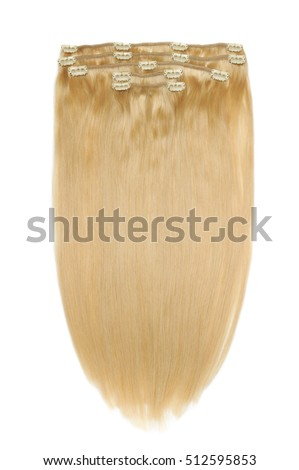 clip in straight golden blonde human hair extensions