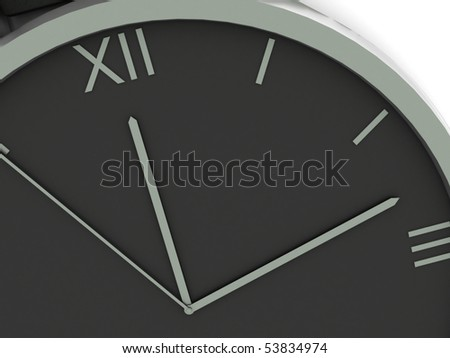 Clock face isolated on white background. High quality 3d render.