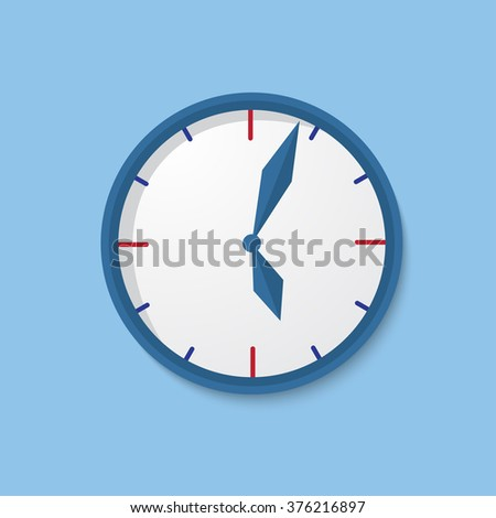 Clock flat icon. World time concept. Internet marketing. Daily infographic.