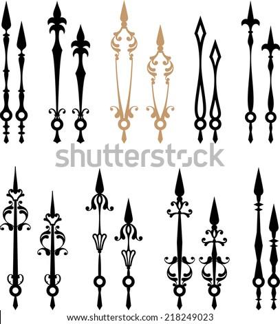 Clock Hands Arms Stock Vector 218020048 Shutterstock