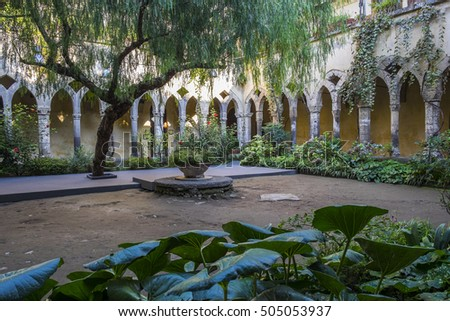 Cloister of Saint Francis of Assisi in Sorrento Italy