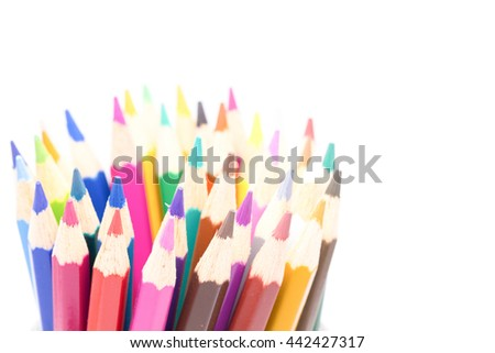 close up Colored pencils tip  design for Colored pencils tip background,sesectin focus at Colored pencils tip