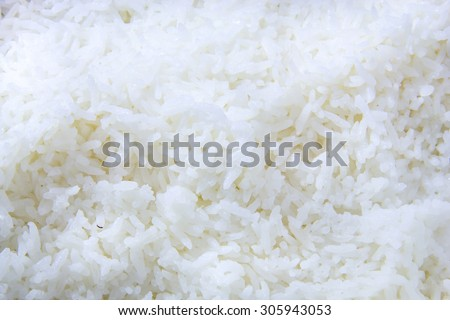 close up cooked rice