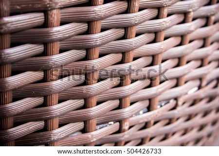Close up Detail of Furniture Plastic weave texture