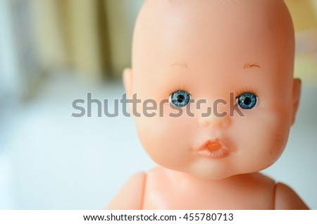 Close up face baby doll