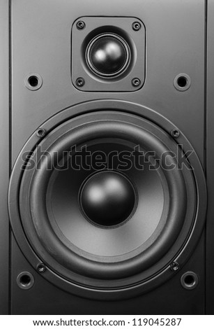 Close up Loudspeaker.