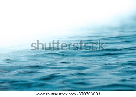 close up Ocean and  sea water surface , selective focus