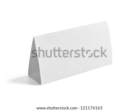 Paper Table Card Sign Template Vector Stock Vector 221728375