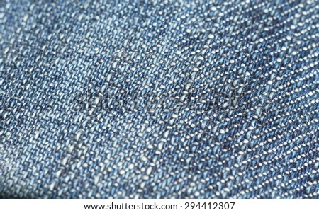Close up of a blue jeans texture as abstract background.