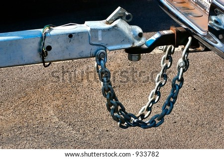 Close-up of a boat trailer hitch