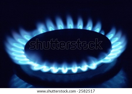 Close up of a gas burner
