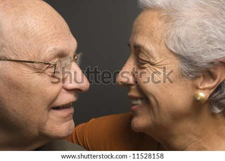 Close-up of a lovely senior couple