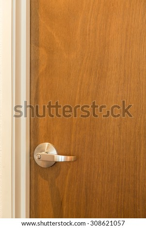 Close up of a modern living room door