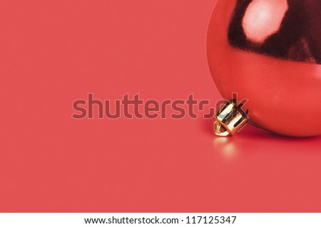Close-up of a red bauble
