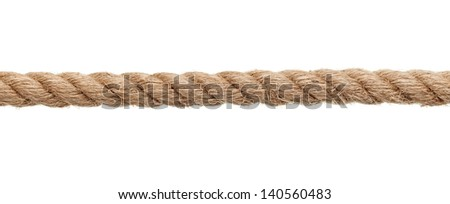 close up of a rope on white background