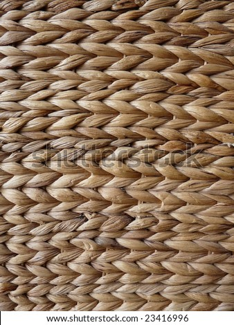 Close-up of a woven rattan texture on a chair that could be used as a background