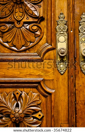 close up of an old antique door