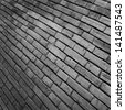 close up of brick wall pattern for background. - stock photo