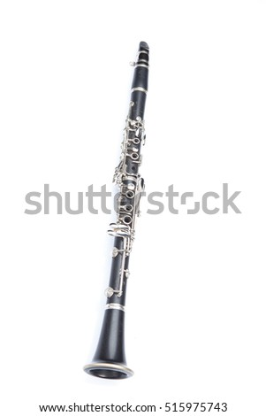 Close-up Of Clarinet Isolated On White Background