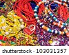 Close up of colorful jewelry - stock photo