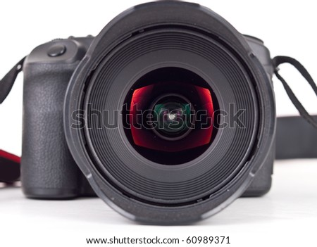 Close Up of Front Glass Element on Wide Angle Lens