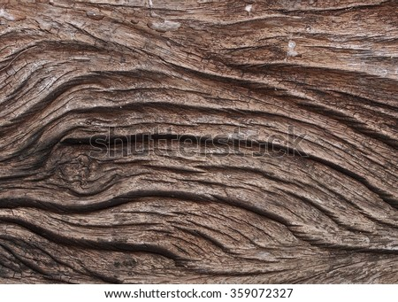 close up of old aged weathered cracked dark brown wood profile surface texture