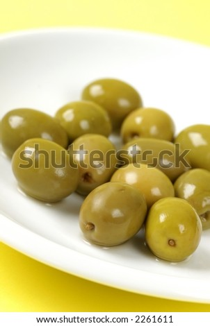 Close-up of olives on a plate