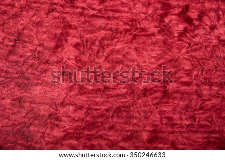 Close-up Of red Wrinkled texture background Paper Square Texture Vertical Background With Copy Space For Text Or Image