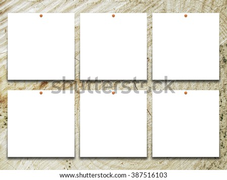 Closeup Six Blank Square Frames Red Stock Photo 409634614 - Shutterstock