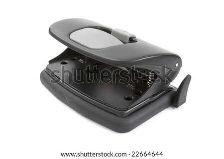 close up of stapler puncher on on white background with clipping path