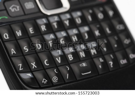Close-up of the keypad of a mobile phone