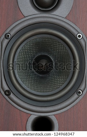 Close-up of the loudspeaker