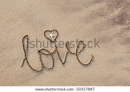 Close Word Life Written Sand Beach Stock Photo 50436556