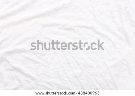 fabric sheet texture. close up of wrinkled white color fabric bed sheet texture background. d